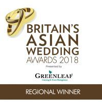 Regional Winner Logo with Greenleaf - Britain's Asian Wedding Awards 2018-01